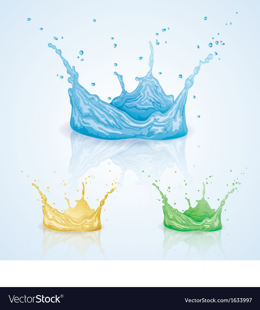 Color water splash vector | Price: 1 Credit (USD $1)