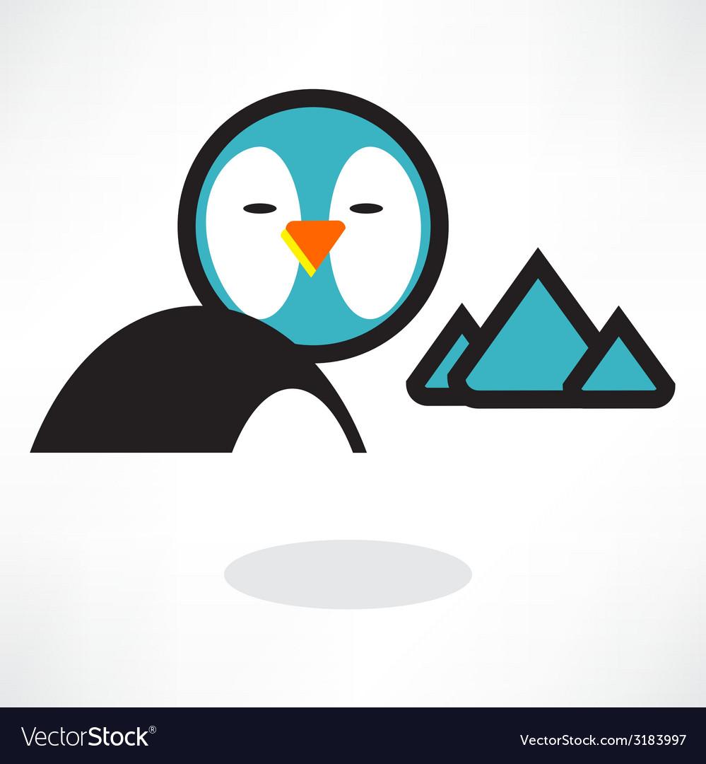 Cute penguin cartoon waving vector   Price: 1 Credit (USD $1)