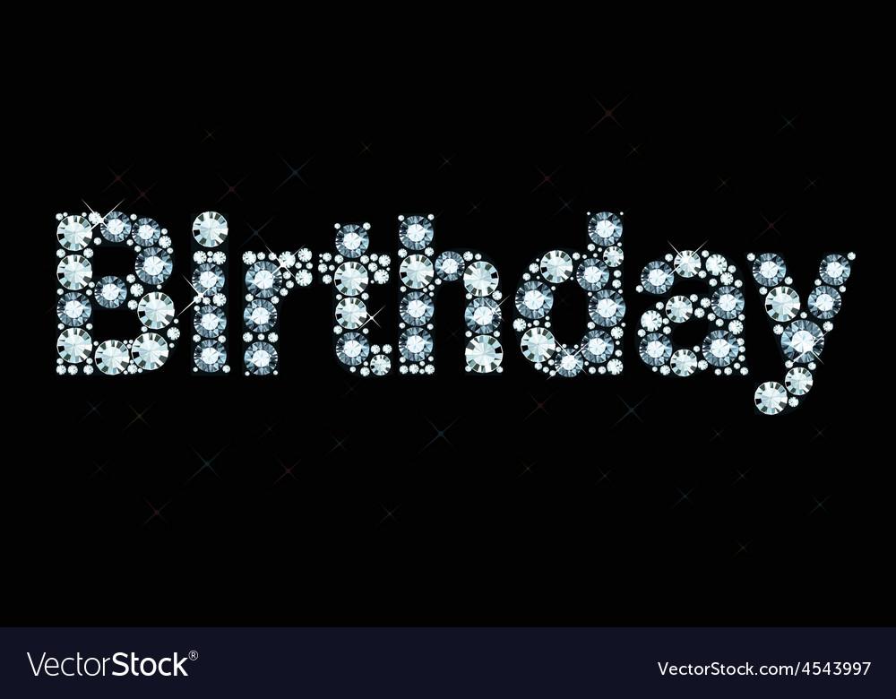 Diamond word birthday vector | Price: 1 Credit (USD $1)