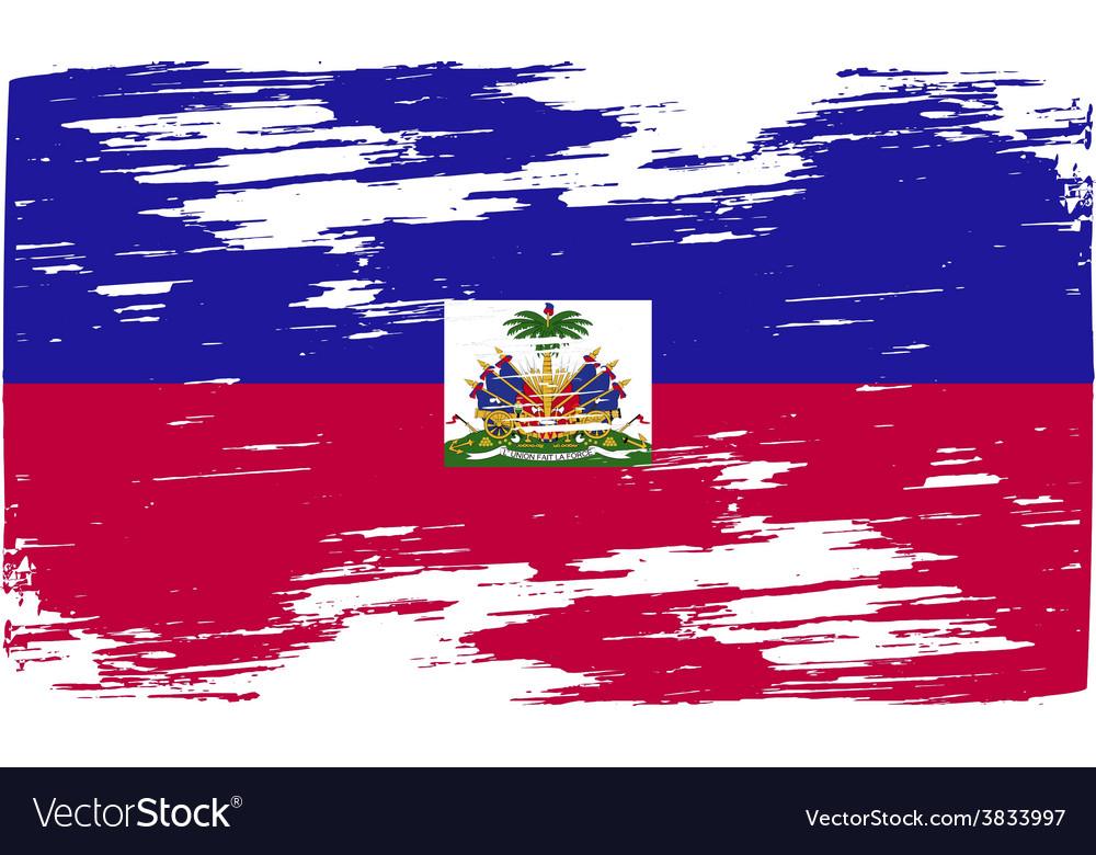 Flag of haiti with old texture vector | Price: 1 Credit (USD $1)