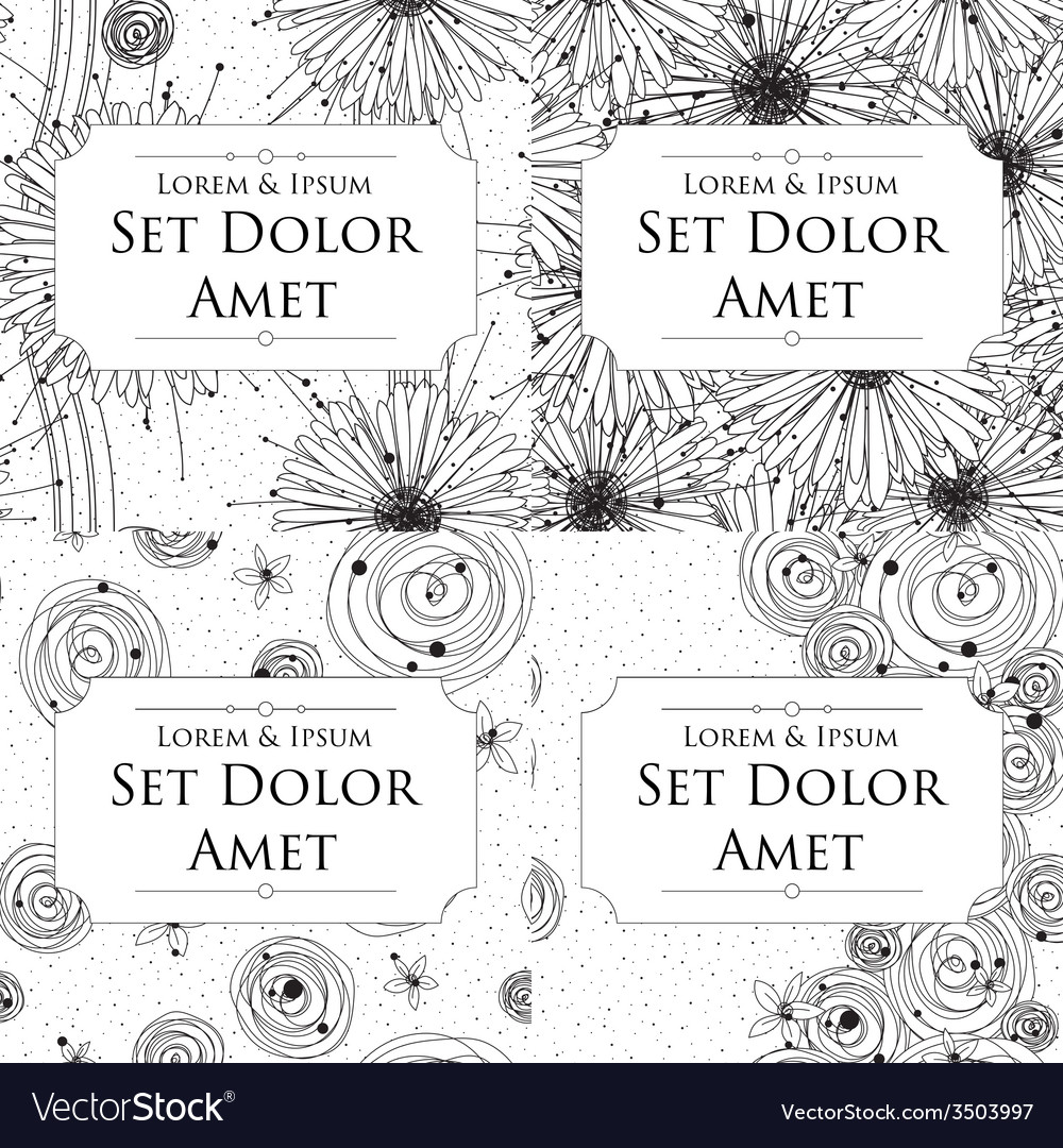 Four ink cards vector | Price: 1 Credit (USD $1)