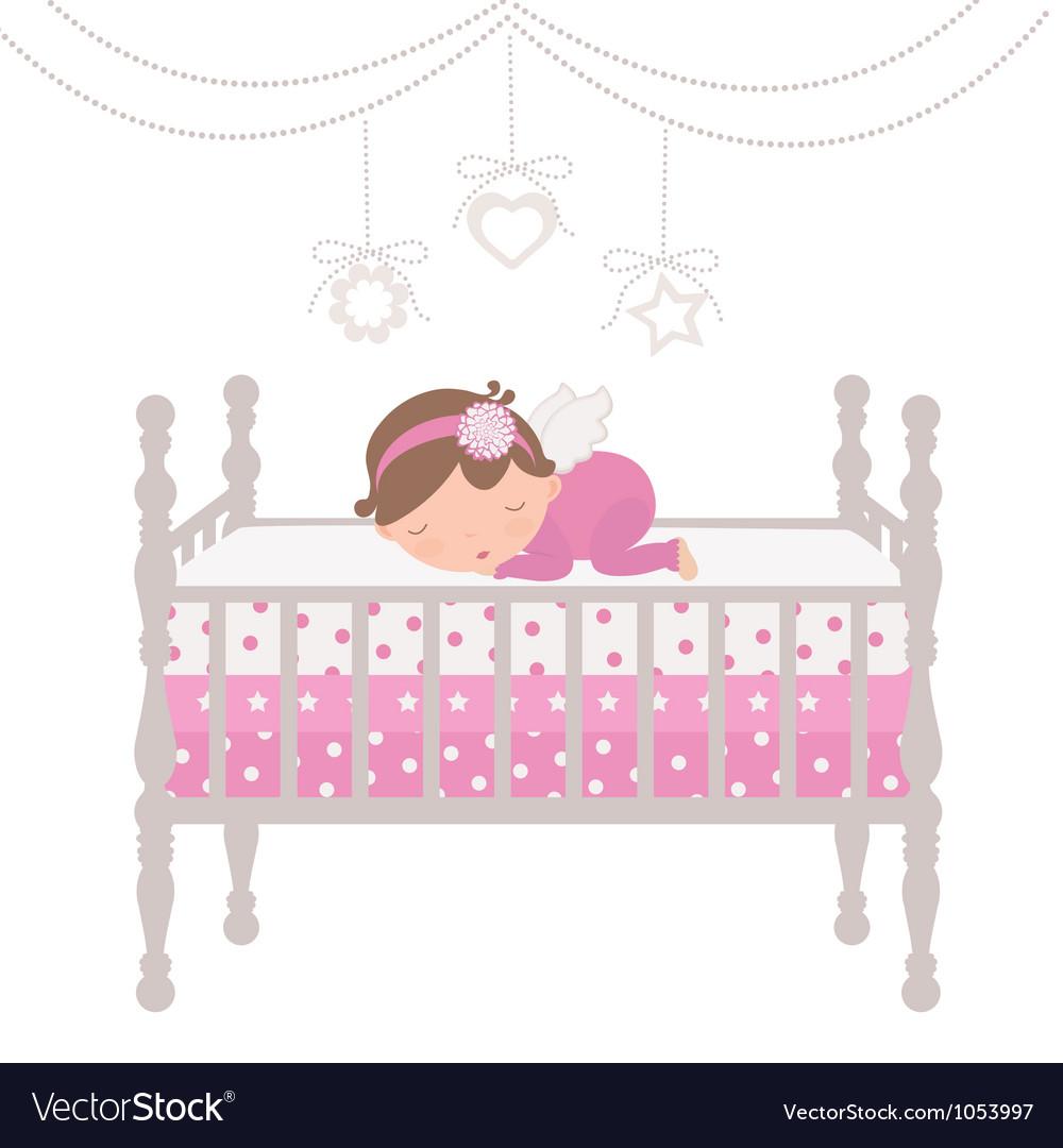 Little angel sleeping vector | Price: 1 Credit (USD $1)