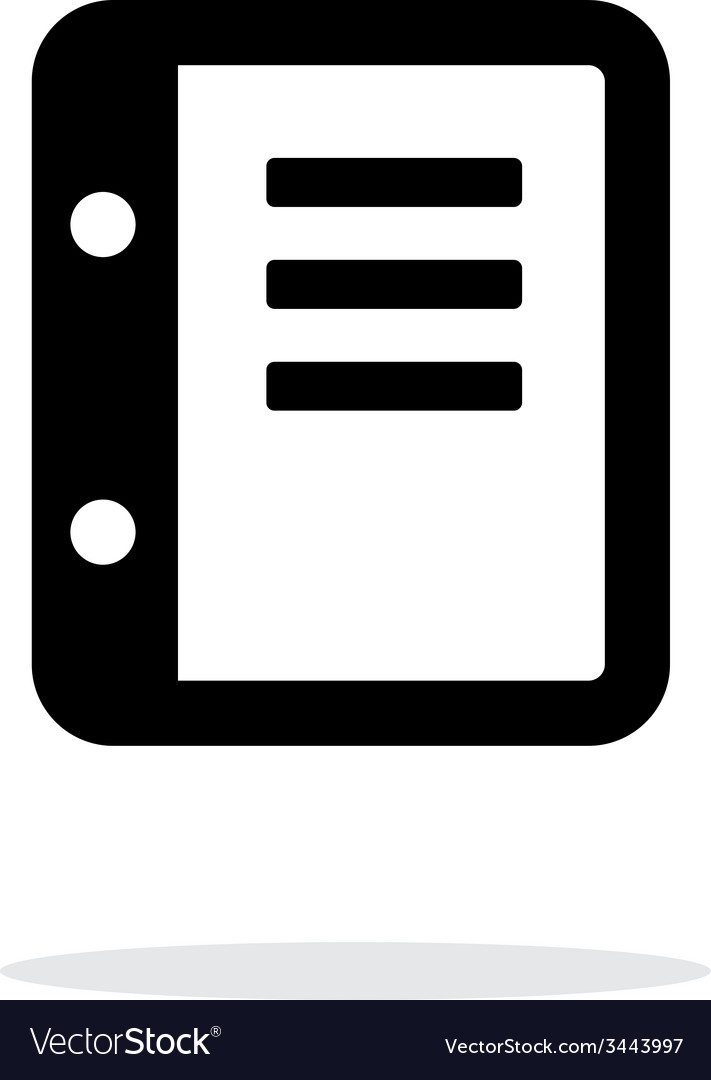 Notepad icon on white background vector | Price: 1 Credit (USD $1)
