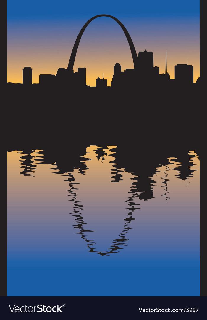 Saint louis missouri silhouette vector | Price: 1 Credit (USD $1)