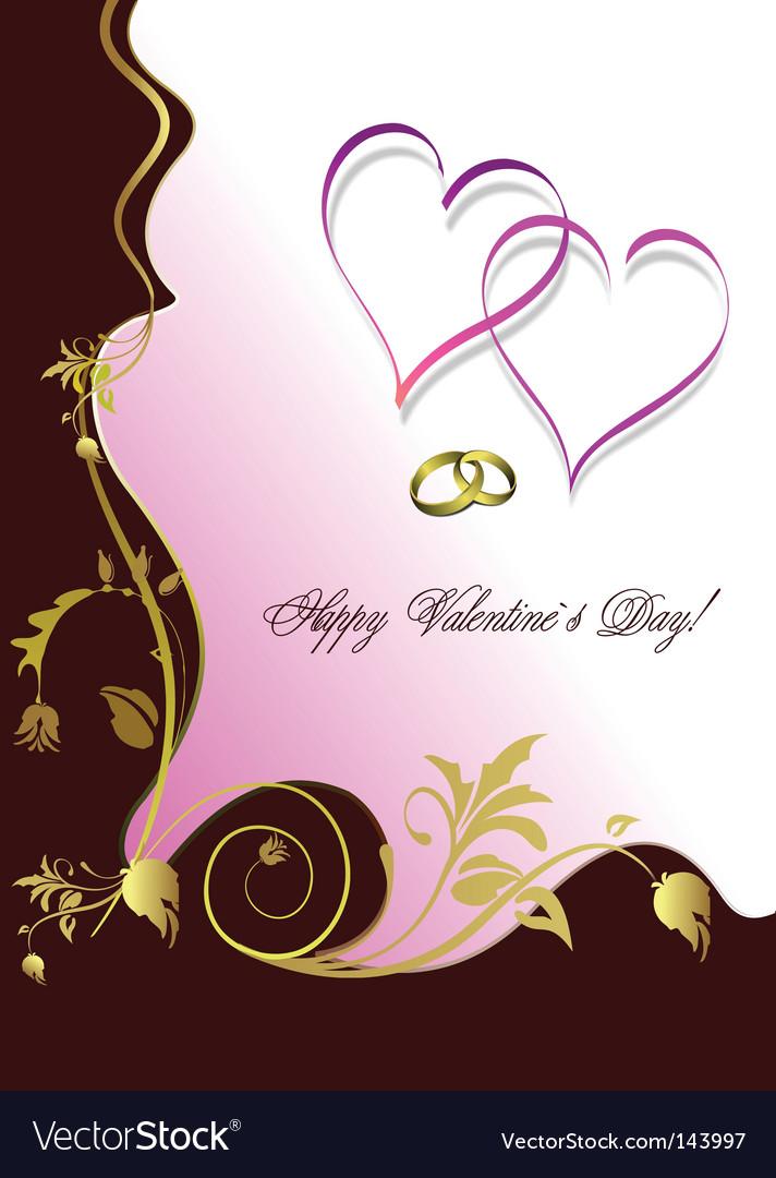 Valentine day card vector | Price: 1 Credit (USD $1)