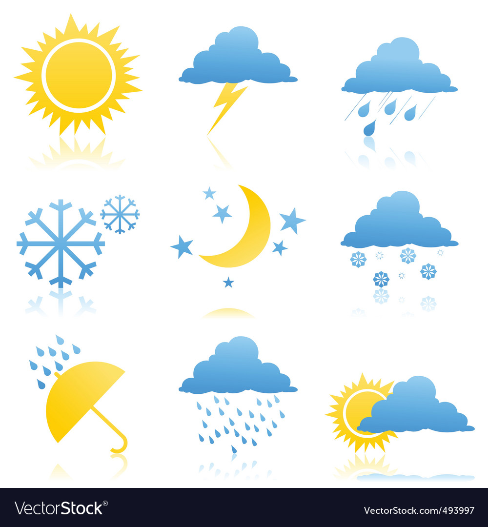 Weather icons2 vector | Price: 1 Credit (USD $1)