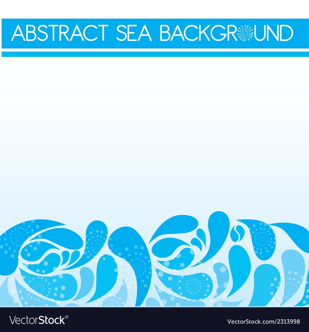 Abstract sea background vector | Price: 1 Credit (USD $1)