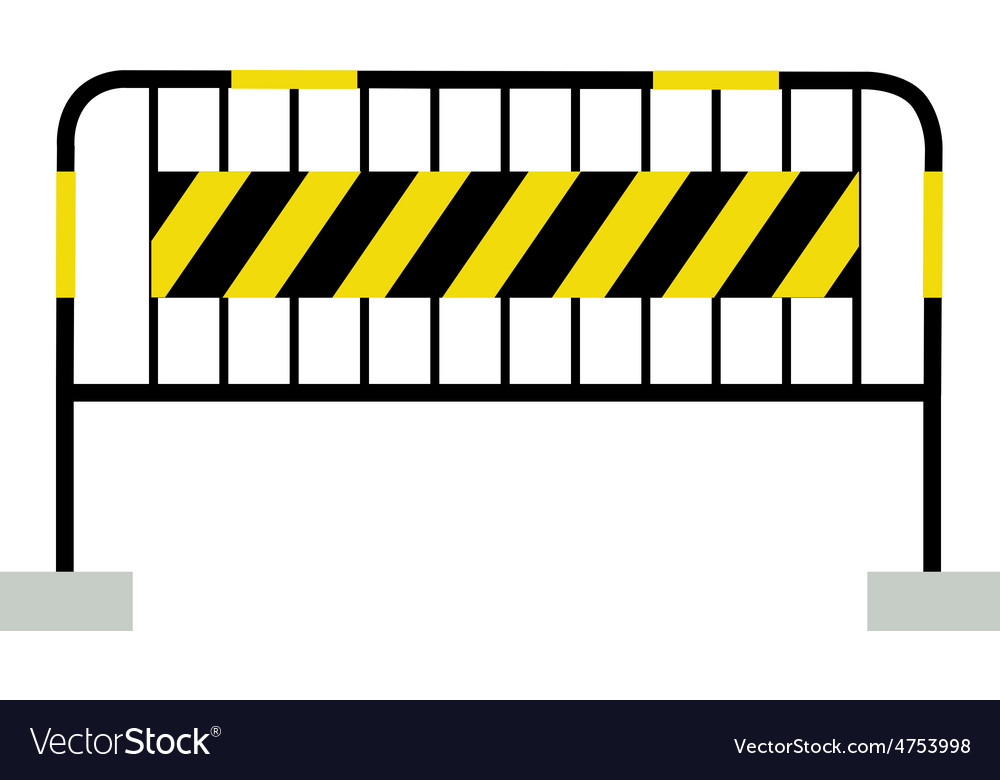 Black and yellow barrier vector | Price: 1 Credit (USD $1)