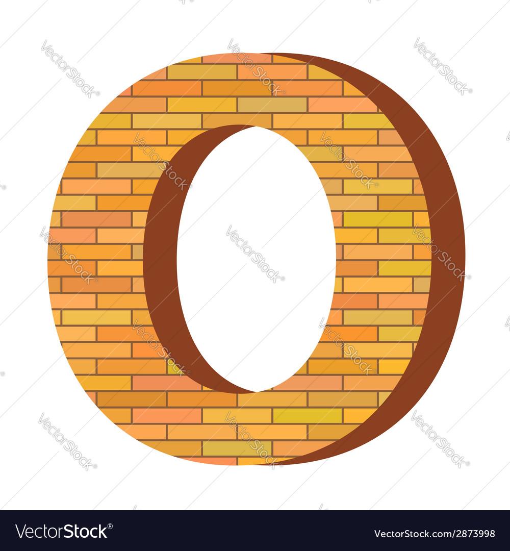 Brick letter o vector | Price: 1 Credit (USD $1)