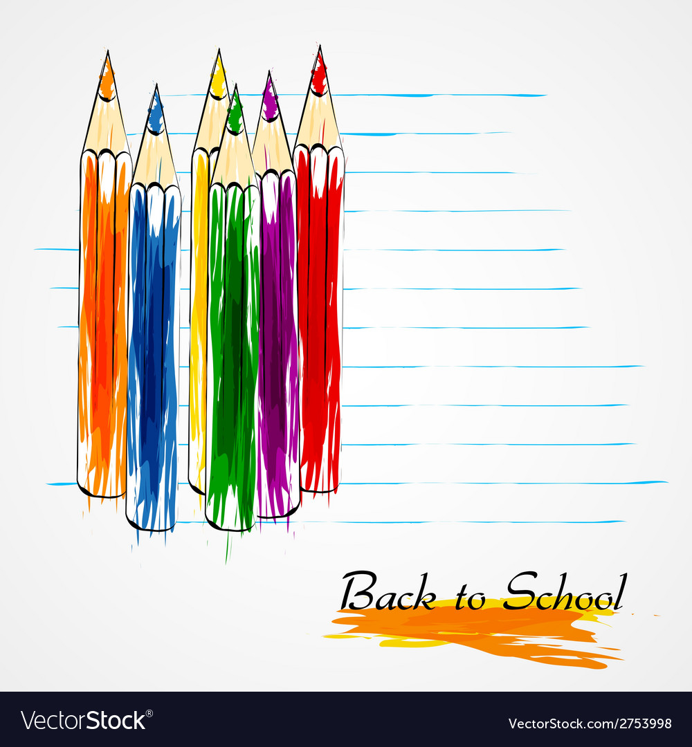 Colorful crayons vector | Price: 1 Credit (USD $1)