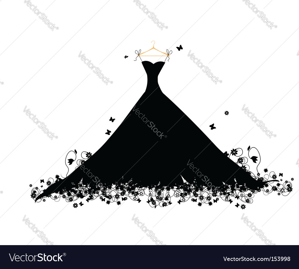 Dress black vector | Price: 1 Credit (USD $1)