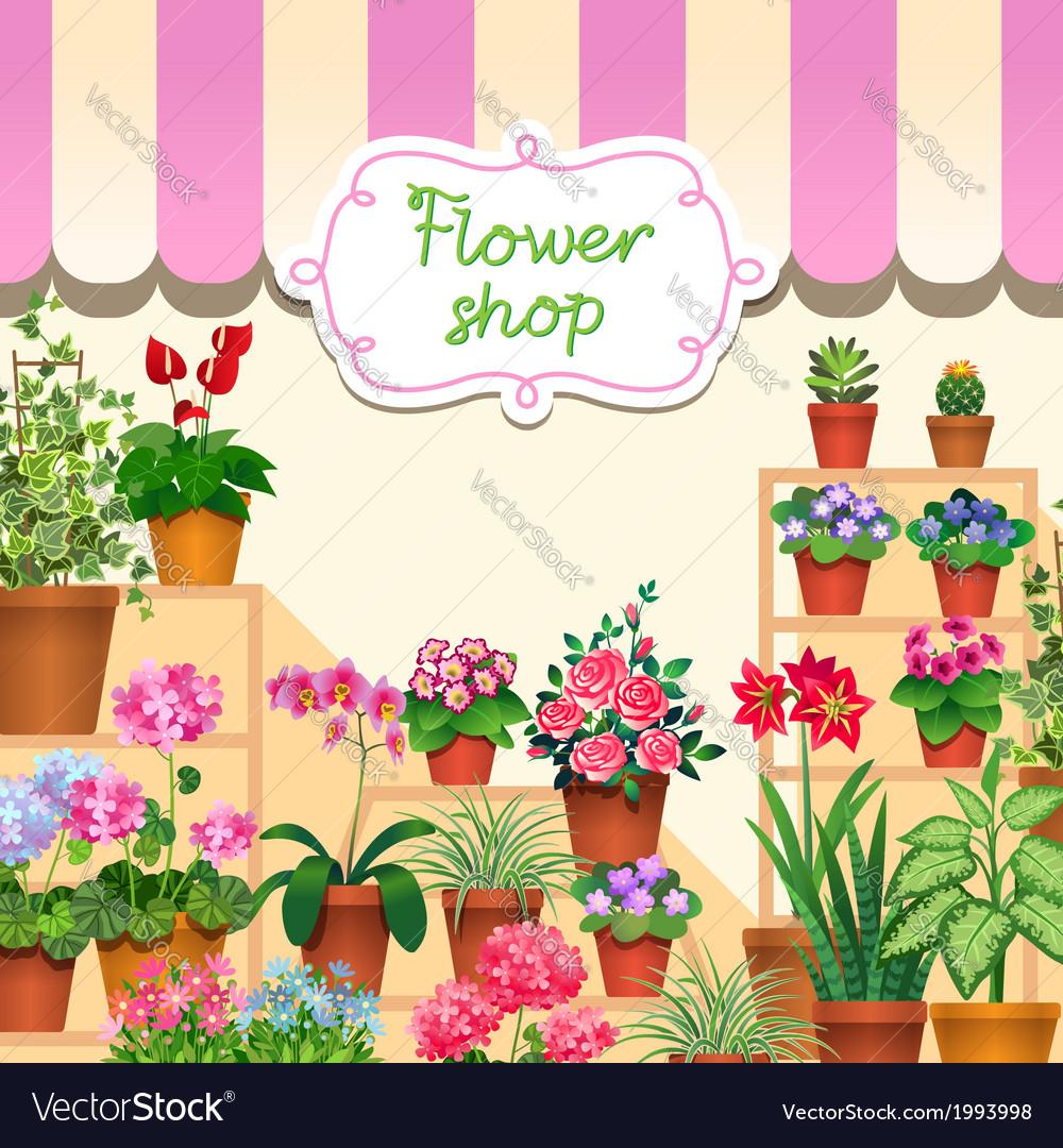 Flower shop vector | Price: 1 Credit (USD $1)