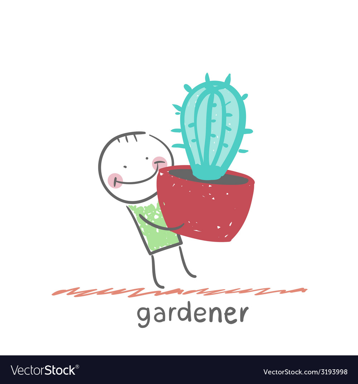Gardener vector | Price: 1 Credit (USD $1)