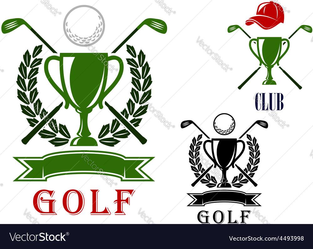 Golf emblem and badges design templates vector | Price: 1 Credit (USD $1)