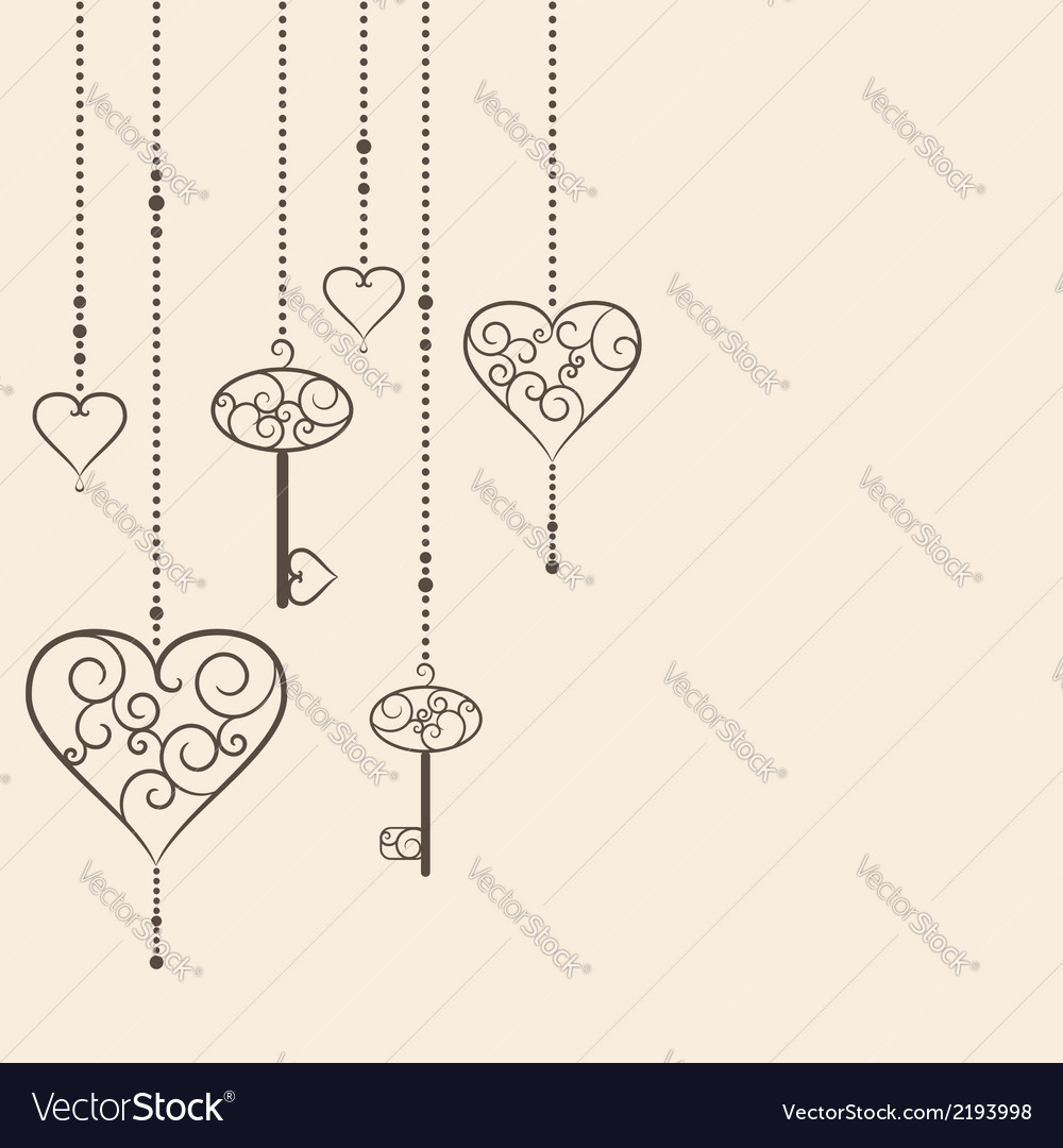 Key to heart vector | Price: 1 Credit (USD $1)