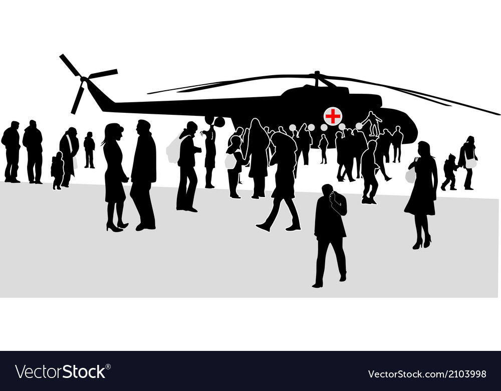 Military mass rally silhouette vector | Price: 1 Credit (USD $1)
