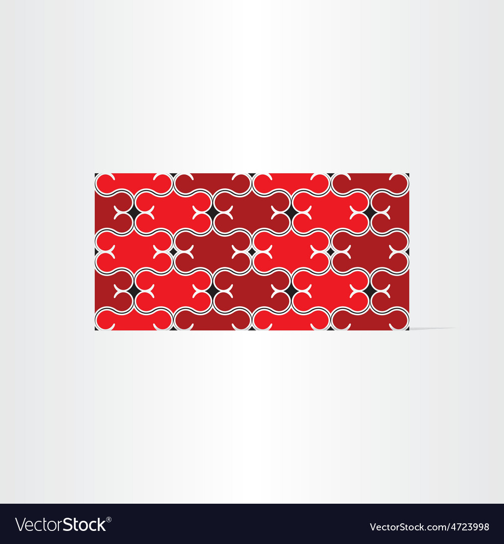 Red decorative seamless background vector | Price: 1 Credit (USD $1)