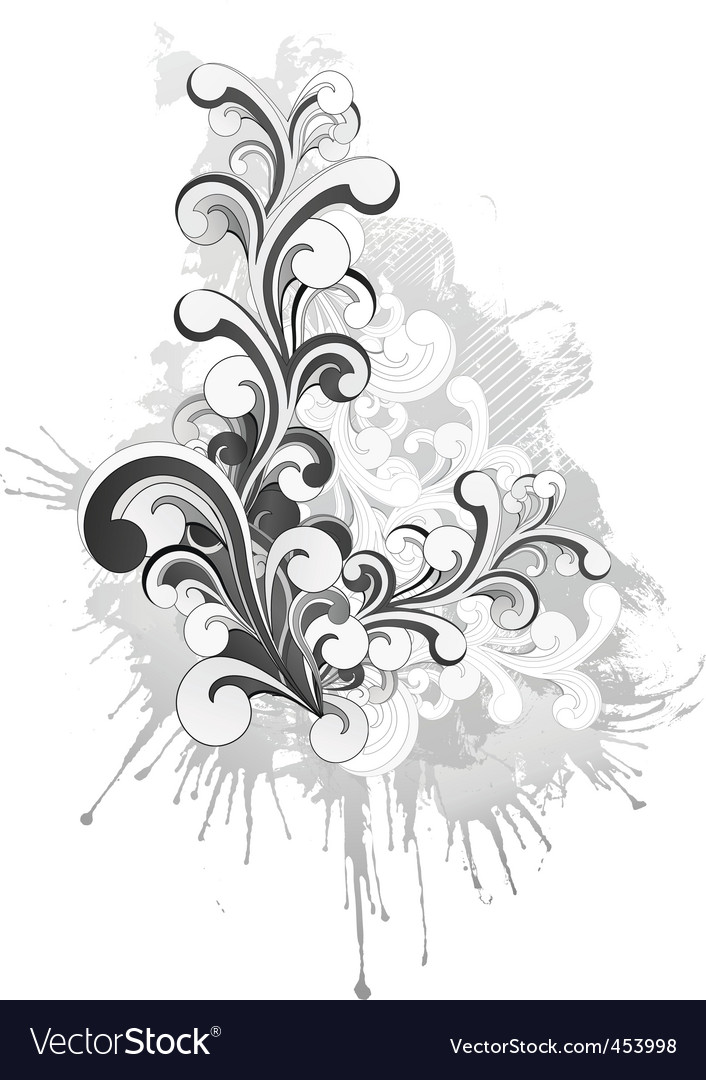 Retro swirl vector | Price: 1 Credit (USD $1)