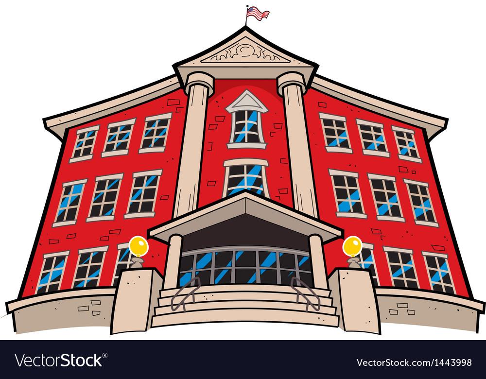 School building vector | Price: 1 Credit (USD $1)
