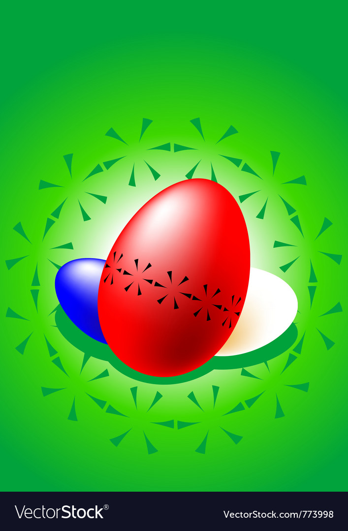 Stylized colored easter eggs vector | Price: 1 Credit (USD $1)