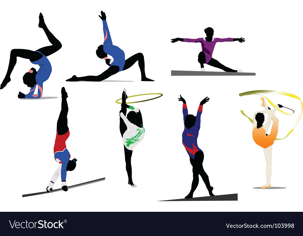 Woman gymnastic vector | Price: 1 Credit (USD $1)