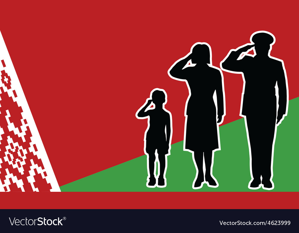 Belarus soldier family salute vector | Price: 1 Credit (USD $1)