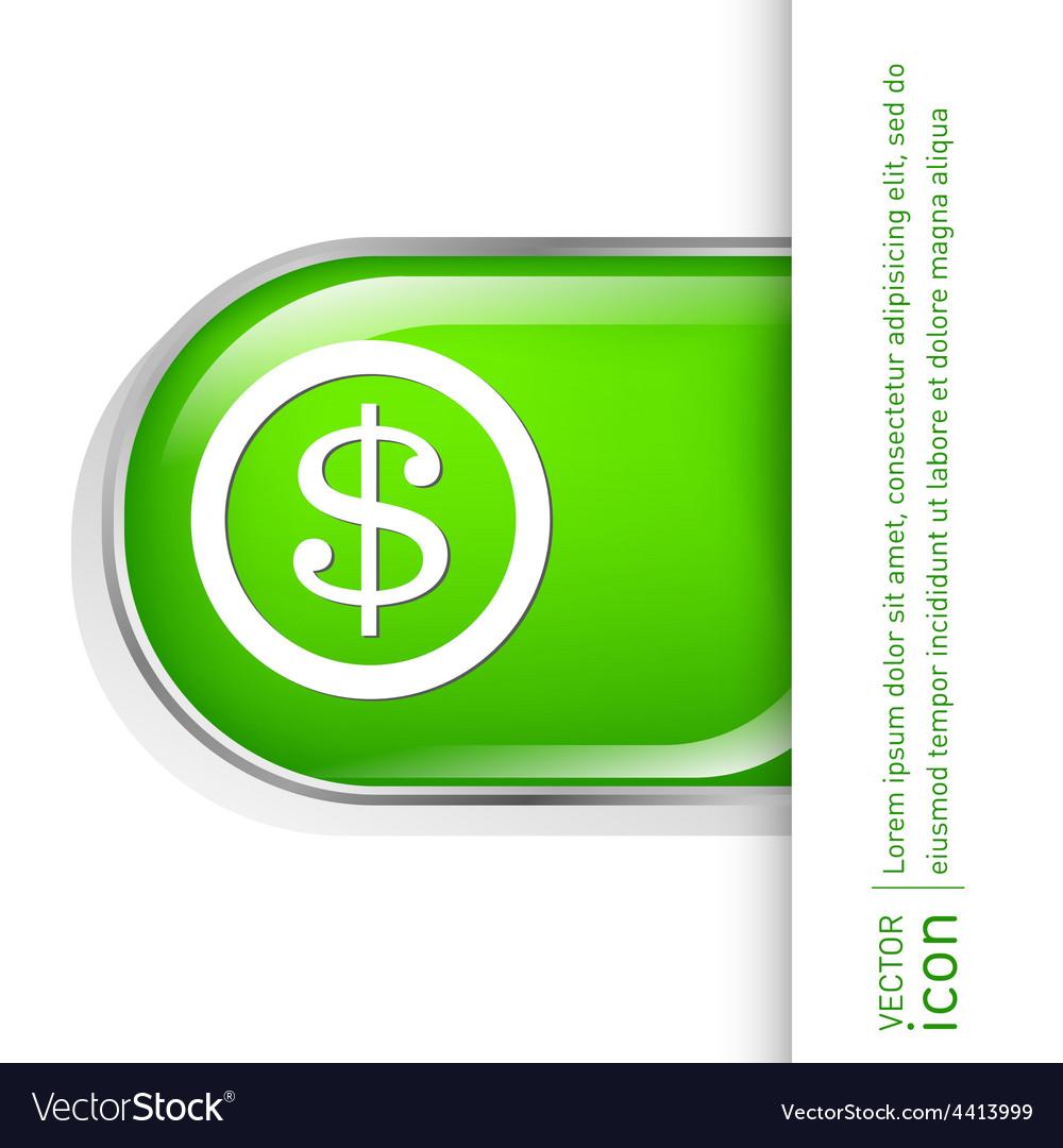 Dollar coin symbol of money vector | Price: 1 Credit (USD $1)