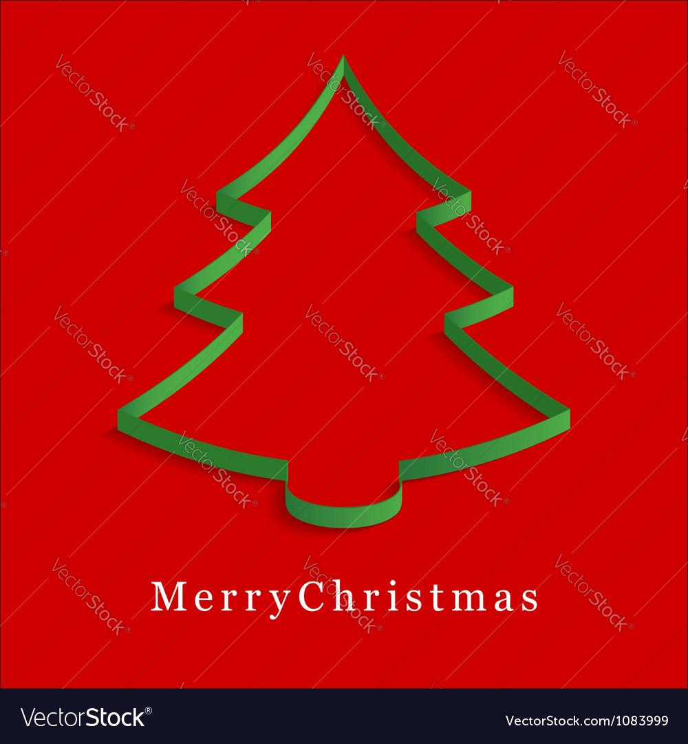 Green christmas tree vector | Price: 1 Credit (USD $1)