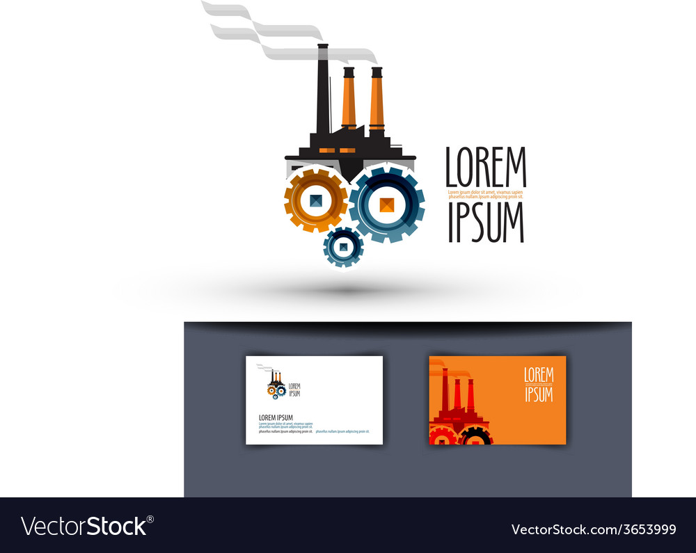 Industry logo design template factory or work icon vector | Price: 1 Credit (USD $1)