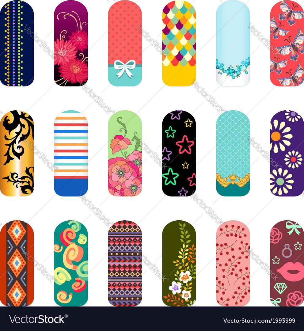 Nail art set vector | Price: 1 Credit (USD $1)