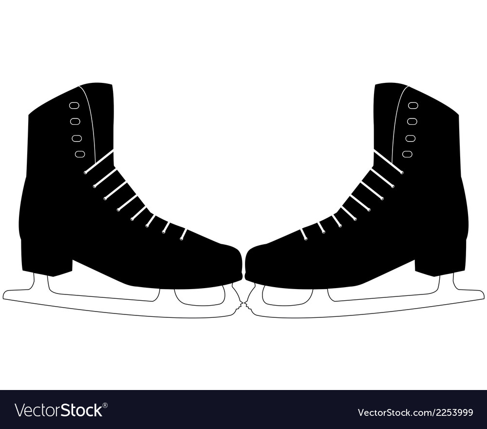Pair of skates vector | Price: 1 Credit (USD $1)
