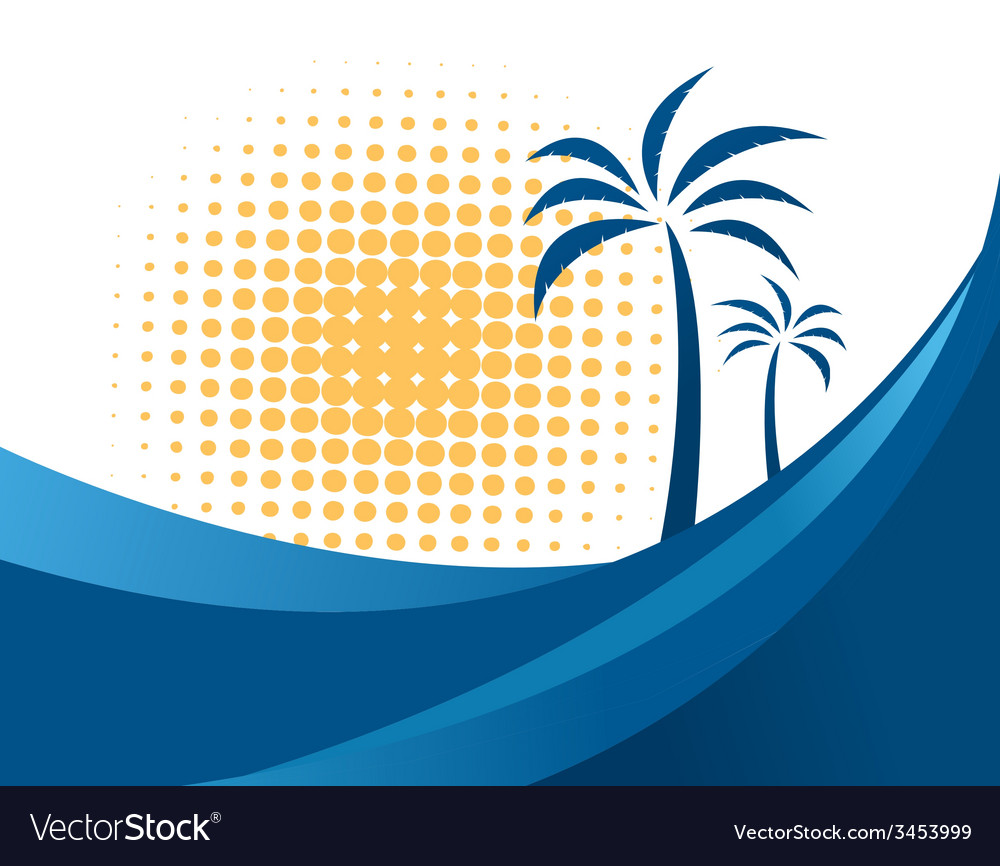 Palm tree design vector