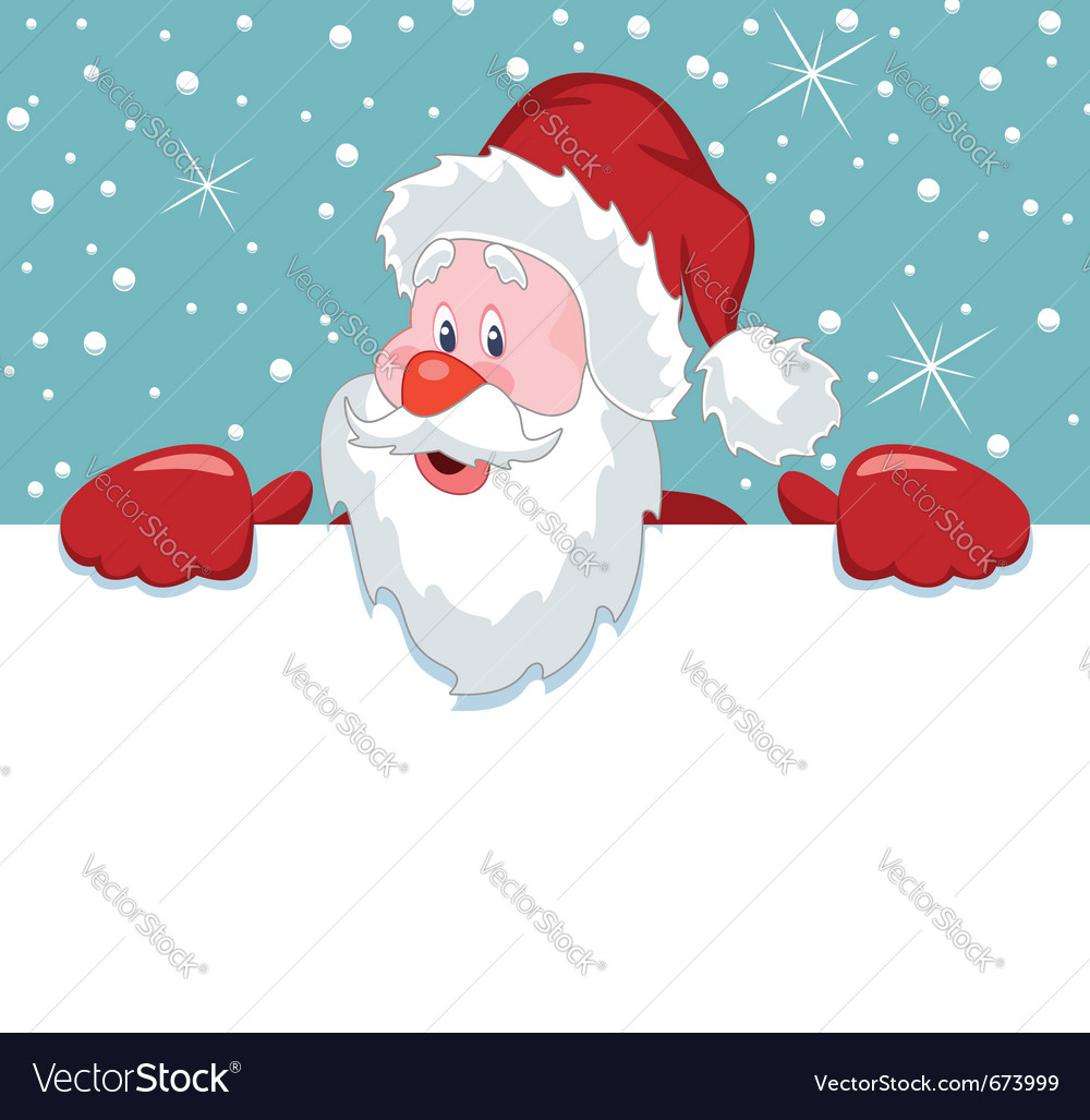 Santa claus holding blank paper vector | Price: 1 Credit (USD $1)