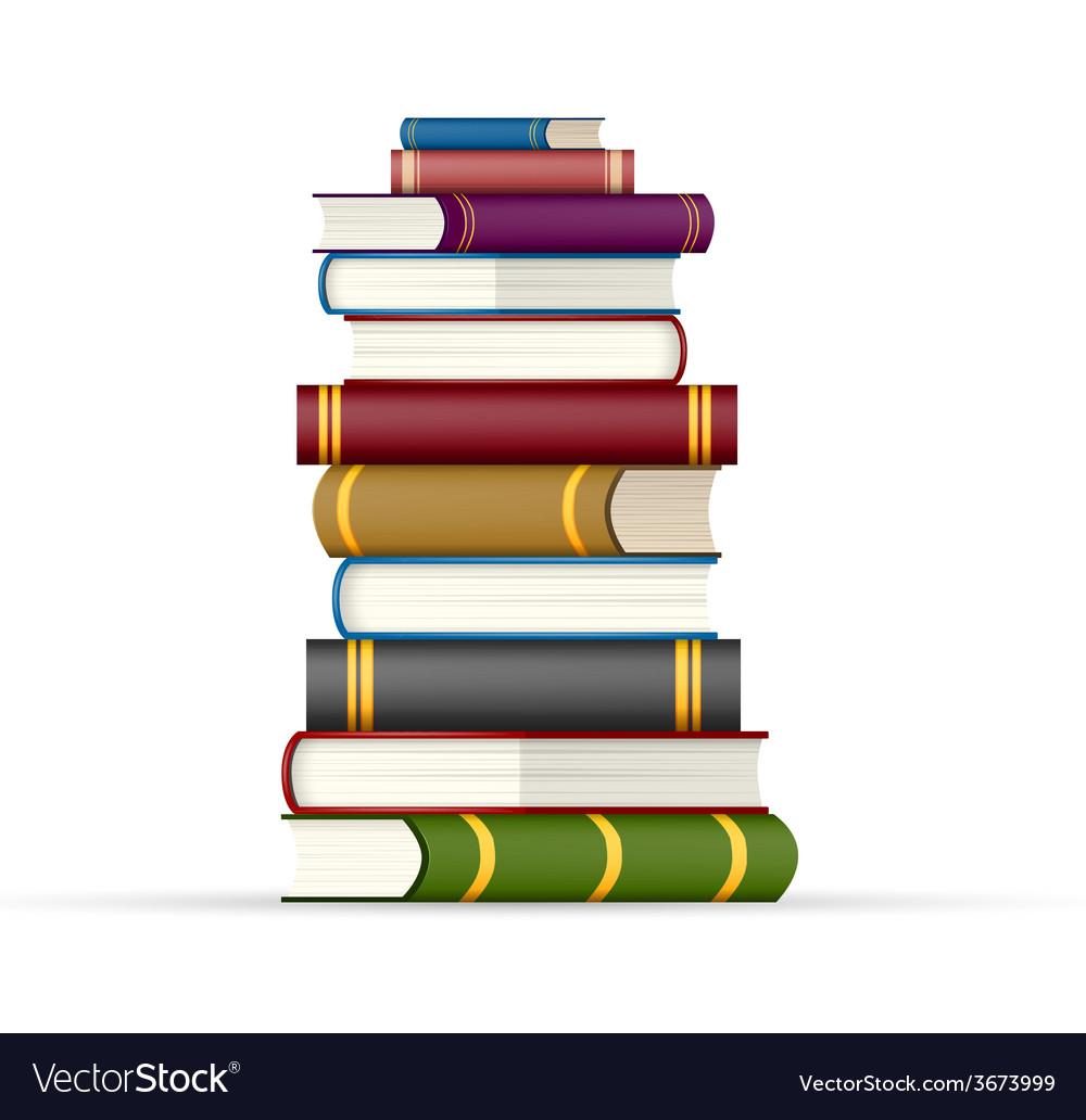 Stack of multi colored books vector   Price: 1 Credit (USD $1)