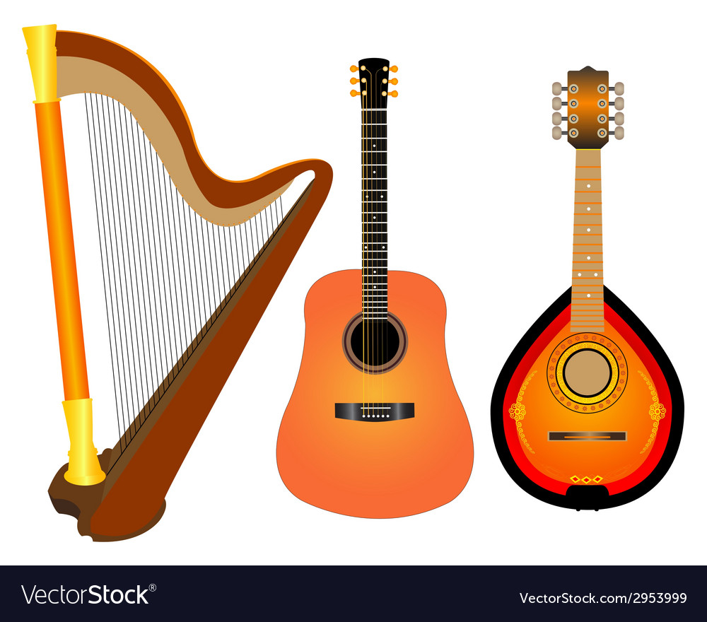 Stringed instruments vector | Price: 1 Credit (USD $1)