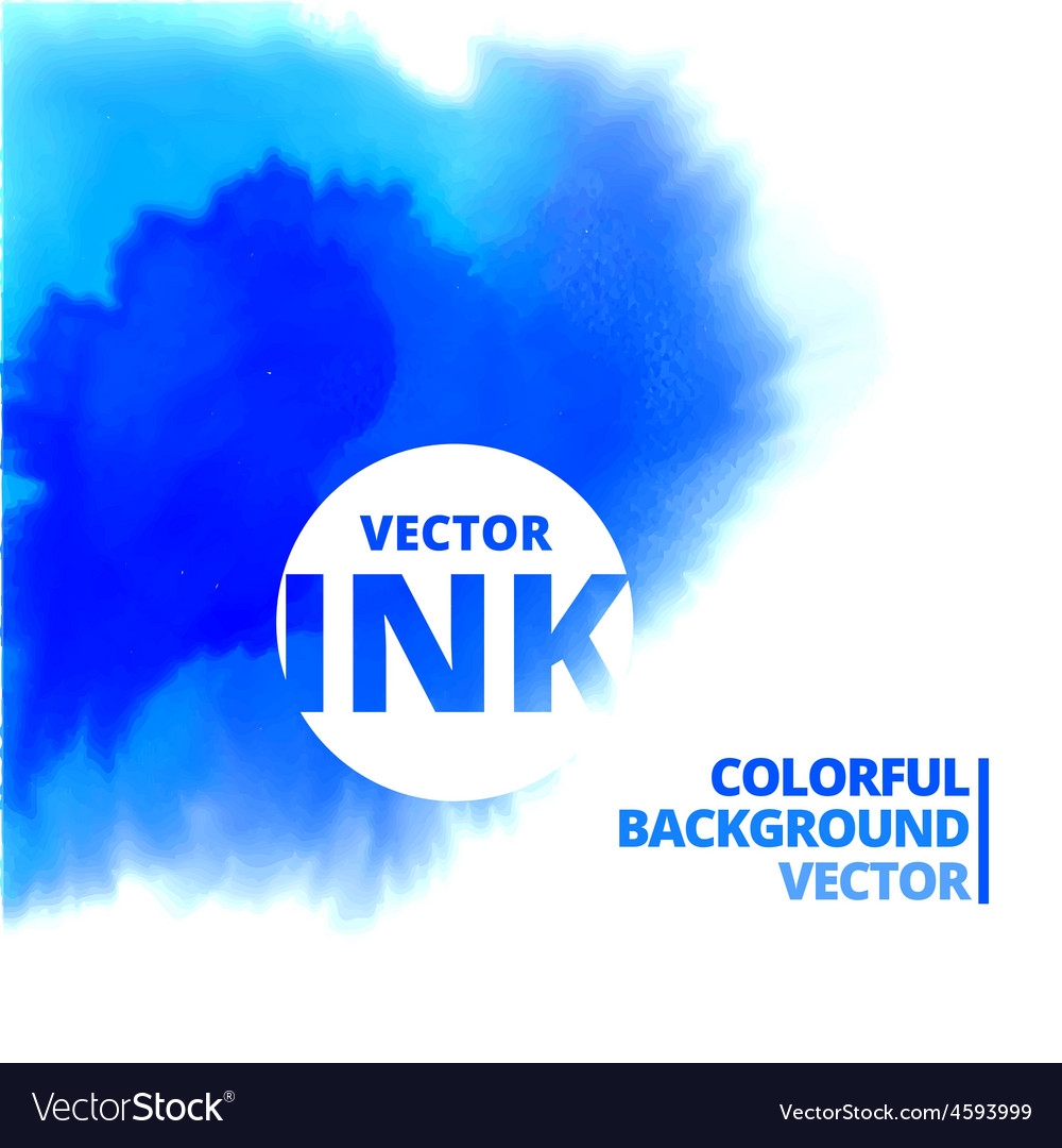 Water ink splash burst in blue color vector | Price: 1 Credit (USD $1)