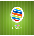 Easter green background with abstract egg vector