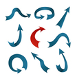 A collection of blue and red arrows vector