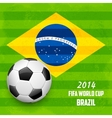 Soccer ball with brazilian flag vector