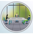Business people sitting at the negotiating table vector