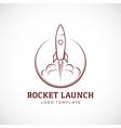 Startup rocket space ship abstract logo vector