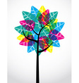 Transparent leaf tree vector