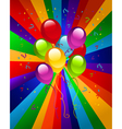 Colorful party balloons vector