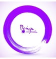 Violet paintbrush circle frame vector