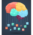 Brain abstract with icons vector
