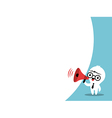 Business man cartoon on megaphone bubble speech vector