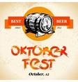 Oktoberfest vintage background typographic poster vector