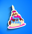 Birthday cake sticker vector