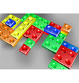 Interlock bricks design vector