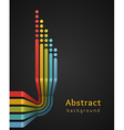 Colored stripes with circles on black background vector